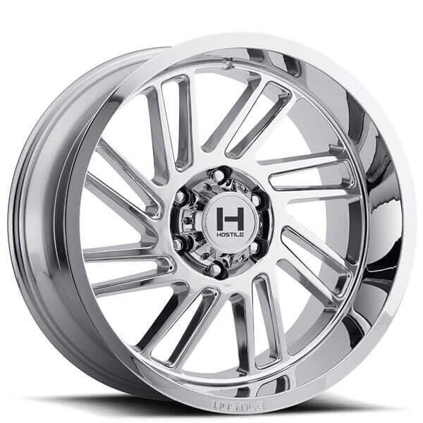 """20"""" Hostile Wheels H110 Stryker Chrome Off-Road Rims"""