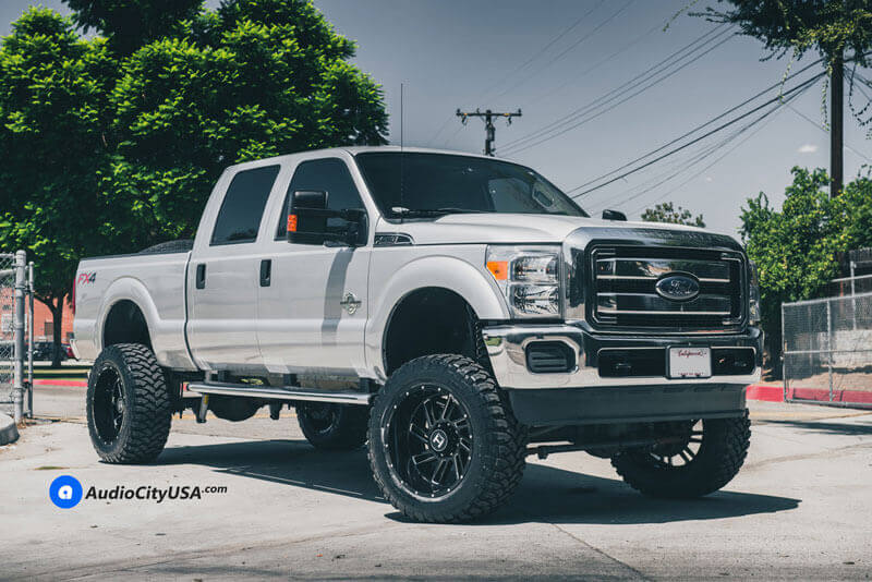 """20"""" Hostile Wheels H110 Stryker Gloss Black with Milled Accents Off-Road Rims"""
