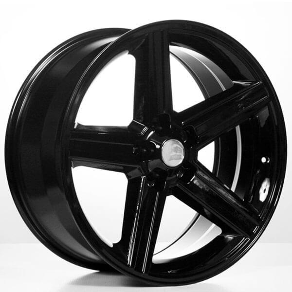 "24"" IROC Wheels Black 5-lugs Rims"