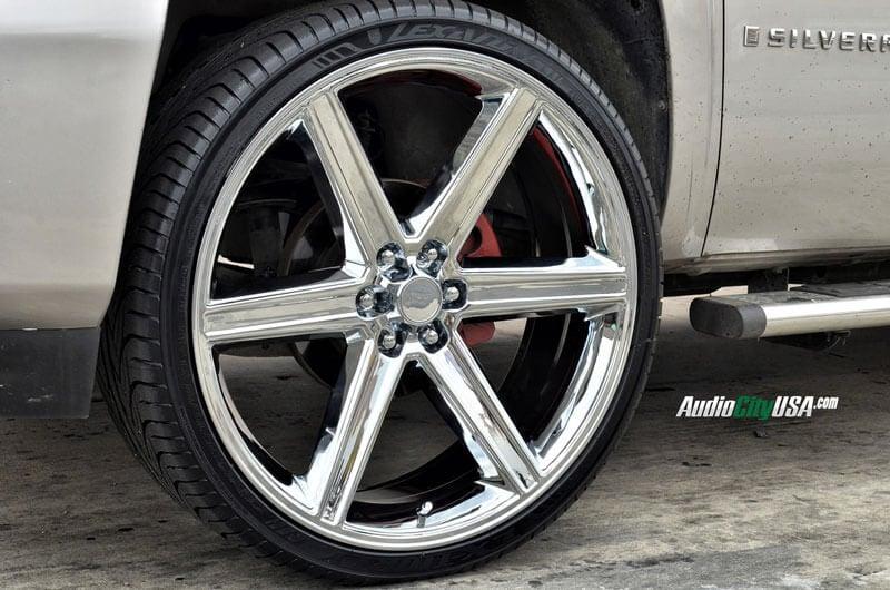 """24"""" IROC Wheels Chrome 6-lugs Rims #IRC006-2"""