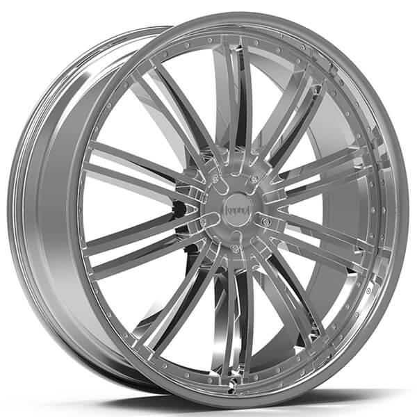 """22x8.5"""" Kronik Wheels Pain Killer Chrome Rims #KNK006-3"""