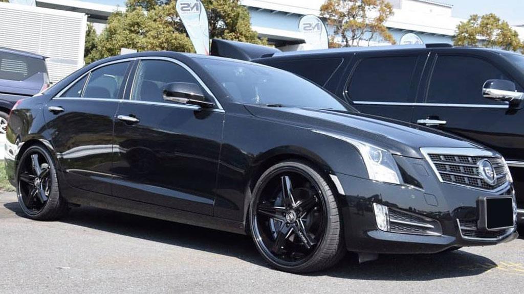 "20"" Staggered Lexani Wheels Fiorano Full Gloss Black Rims"