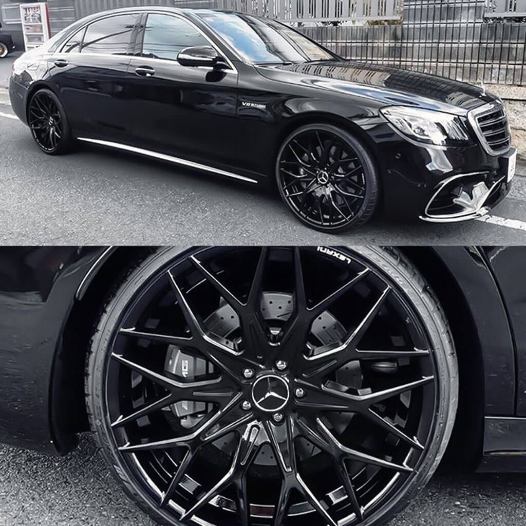 22 Quot Staggered Lexani Wheels Morocco Full Gloss Black Flow Forged Rims Lx121 4