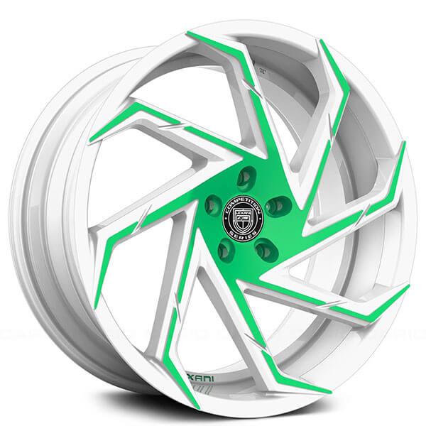 "20/22"" Staggered Lexani Wheels Cyclone Custom Finish Polaris Slingshot Rims"