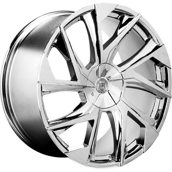 """24"""" Lexani Wheels Ghost Chrome Rims"""
