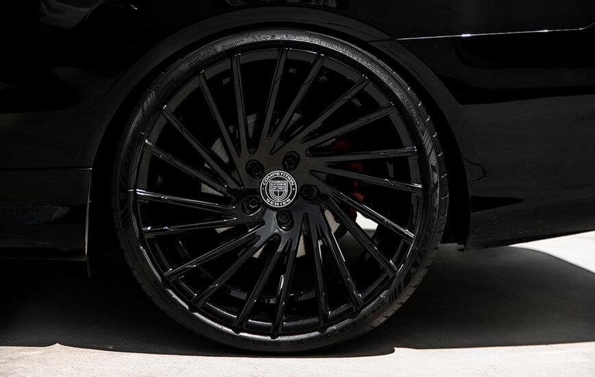 """24"""" Lexani Wheels Wraith Gloss Black Rims #LX004-5"""