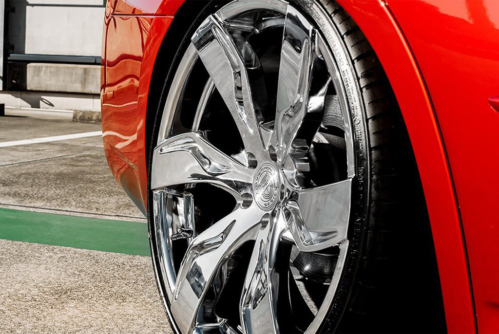 """Honda City 2015 >> 22"""" Staggered Lexani Wheels Zagato Chrome Rims #LX065-4"""