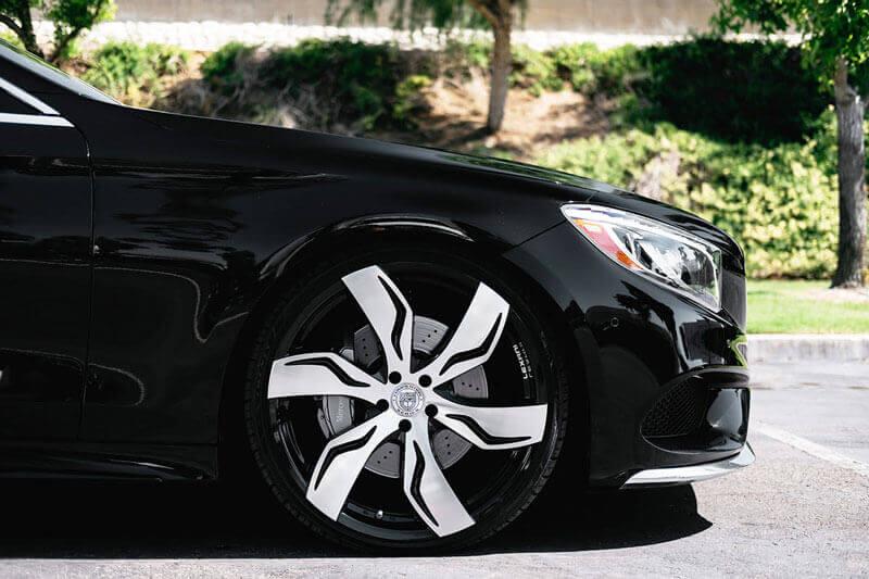 22 Quot Staggered Lexani Wheels Zagato Gloss Black Machined