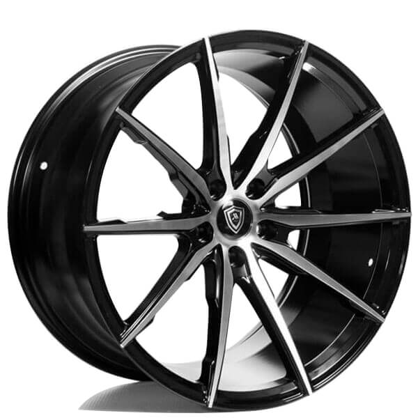 """20"""" Staggered Marquee Wheels 1035 Black Machined Rims"""