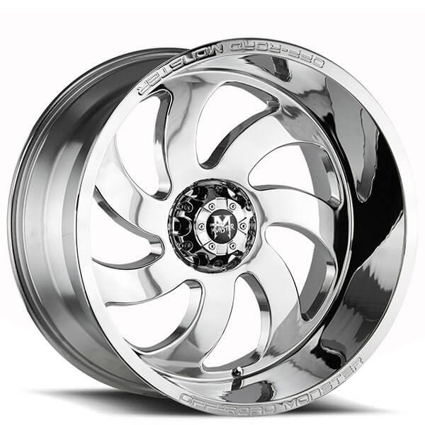 24 Off Road Monster Wheels M07 Chrome Rims Msr005 3