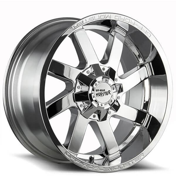 22 Off Road Monster Wheels M80 Chrome Rims Msr044 2
