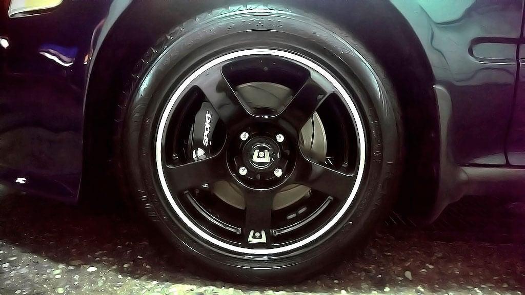"17"" Motegi Racing Wheels MR116 Gloss Black with Machined Flange Rims"