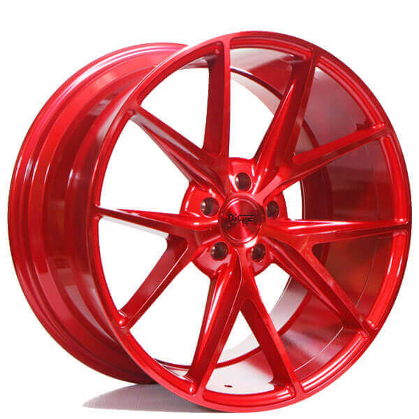 "20"" Staggered Niche Wheels M186 Misano Gloss Red Polaris SlingShot Rims"