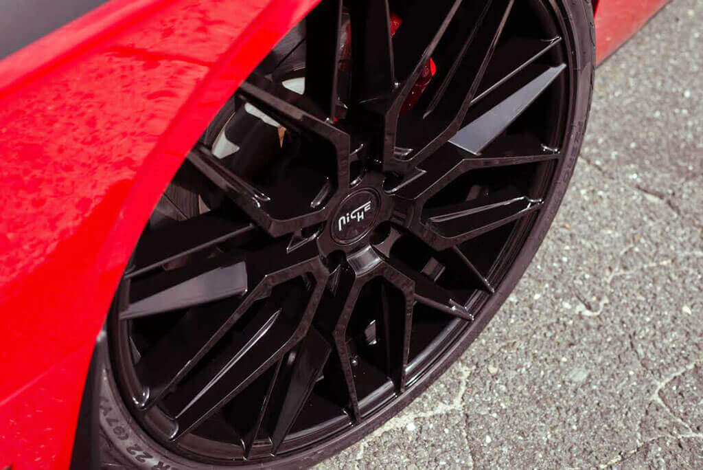 "19"" Niche Wheels M190 Gamma Matte Black Rims #NC076-1"