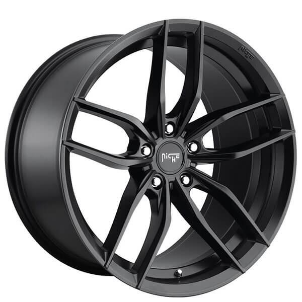 "20"" Staggered Niche Wheels M203 Vosso Matte Black Rims"