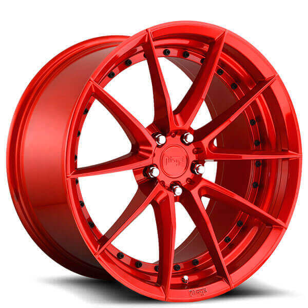 """20"""" Staggered Niche Wheels M213 Sector Gloss Red Polaris SlingShot Rims"""