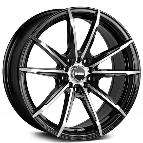 NS Wheels Tunner NS1602 Black Machined Rims