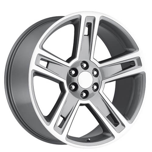 22 2015 Chevy Silverado 1500 Wheels Grey Machined Oem Replica Rims