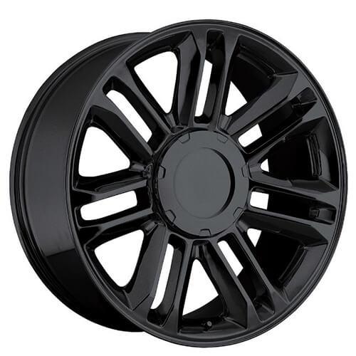 "24"" 2010 Cadillac Escalade Platinum Wheels Gloss Black OEM"