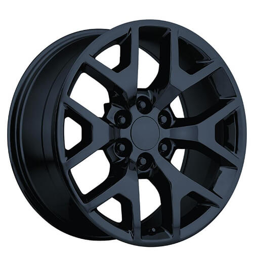 24 Quot 2014 Gmc Sierra Wheels Gloss Black Oem Replica Rims