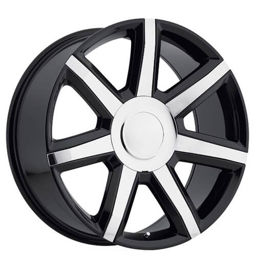 "22"" 2015 Cadillac Escalade Luxury Wheels Black With Chrome"