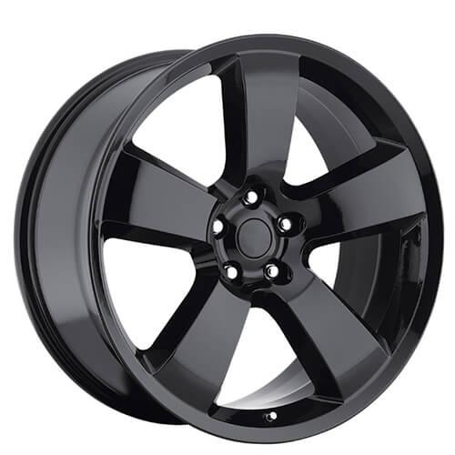 "20"" Dodge Charger SRT8 Wheels Gloss Black OEM Replica Rims"