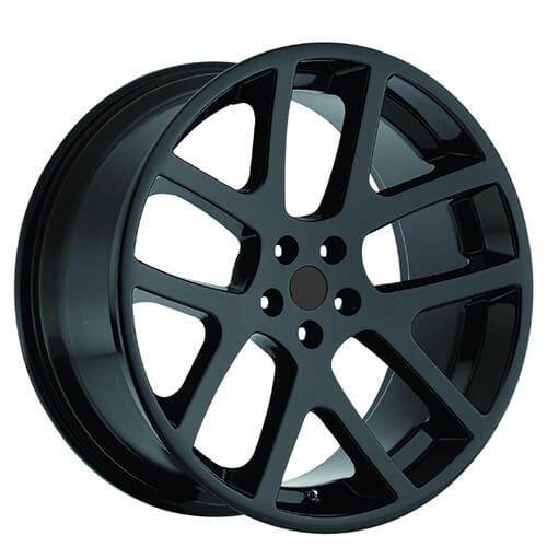 "20"" Staggered Dodge LX Viper Wheels Gloss Black OEM Replica Rims"
