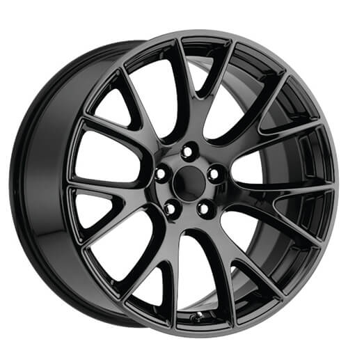 "22"" Dodge Challenger Hellcat Wheels Black Chrome OEM Replica Rims #OEM202-3"