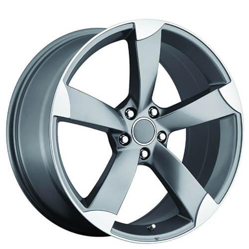 "19"" AUDI A5 Wheels Grey Machined OEM Replica Rims #OEM185-2"