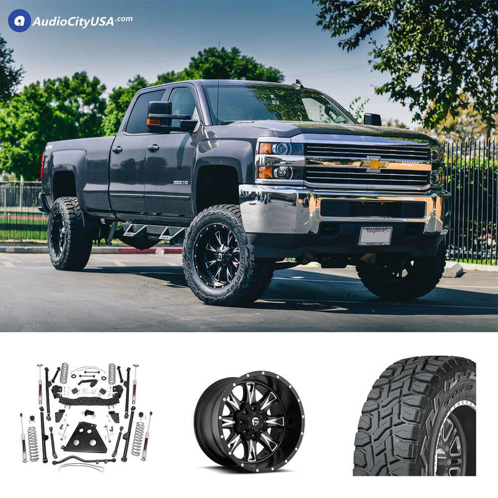 """2015 Chevrolet Silverado 2500HD 20x10"""" Wheels + Tires + Suspension Package Deal"""