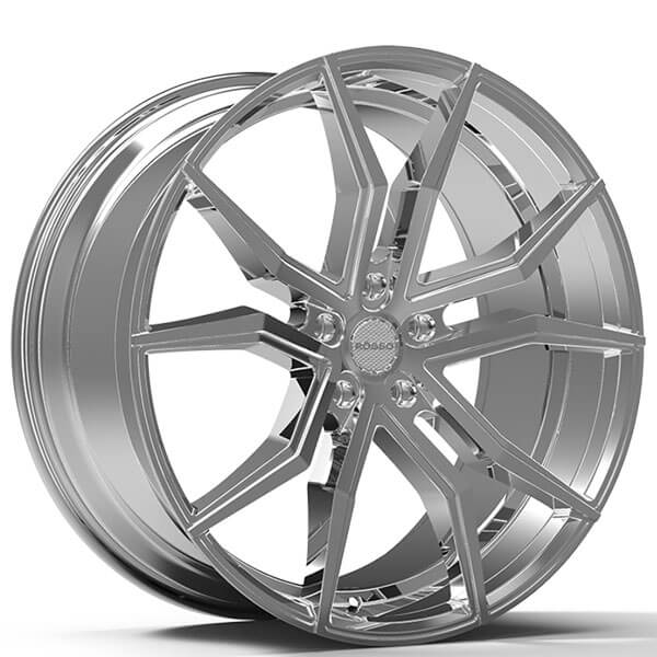 "22"" Staggered Paragon Wheels Rosso Icon Chrome Rims #PG010-4"