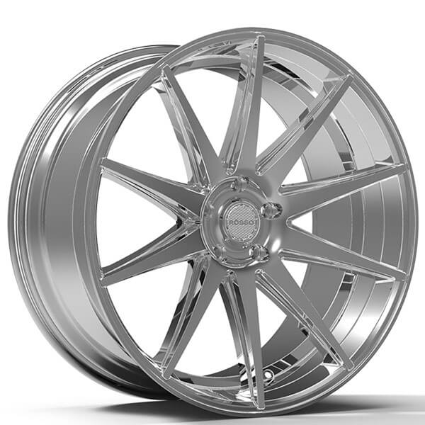 "22"" Staggered Paragon Wheels Rosso Legacy Chrome Rims #PG027-4"