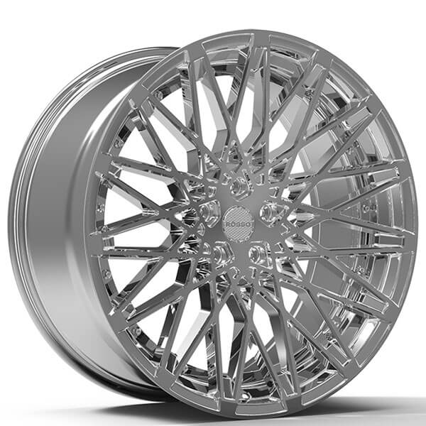 "22"" Staggered Paragon Wheels Rosso Skism Chrome Rims #PG015-4"