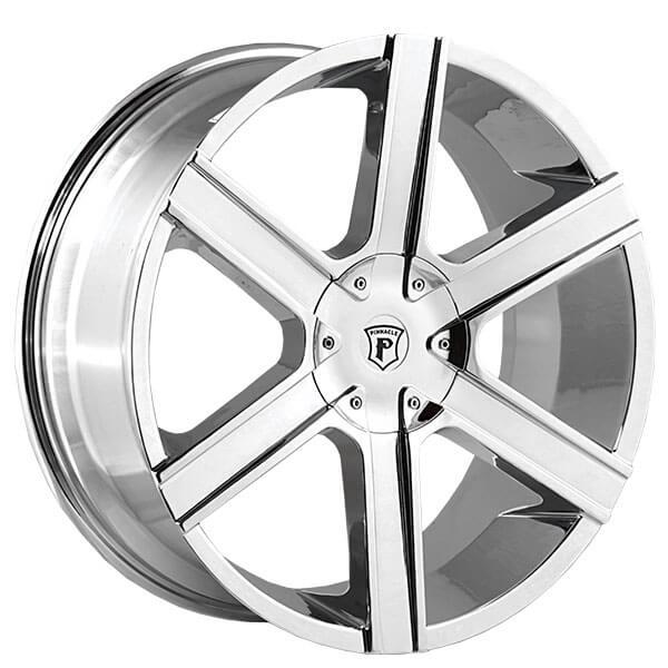 """20"""" Pinnacle Wheels P92 Gallant Chrome Rims"""