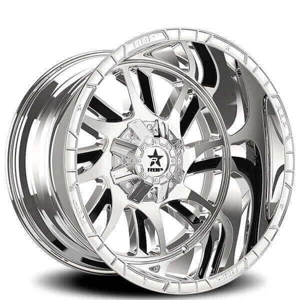 RBP Wheels 69R Swat Chrome with Black Inserts Off-Road Rims
