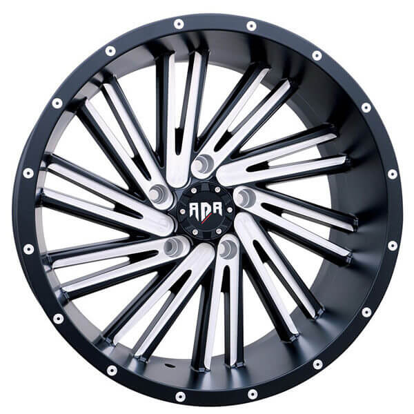 Red Dirt Road Wheels RDA Saw Blade Black Milled OffRoad Rims - Acura blades rims