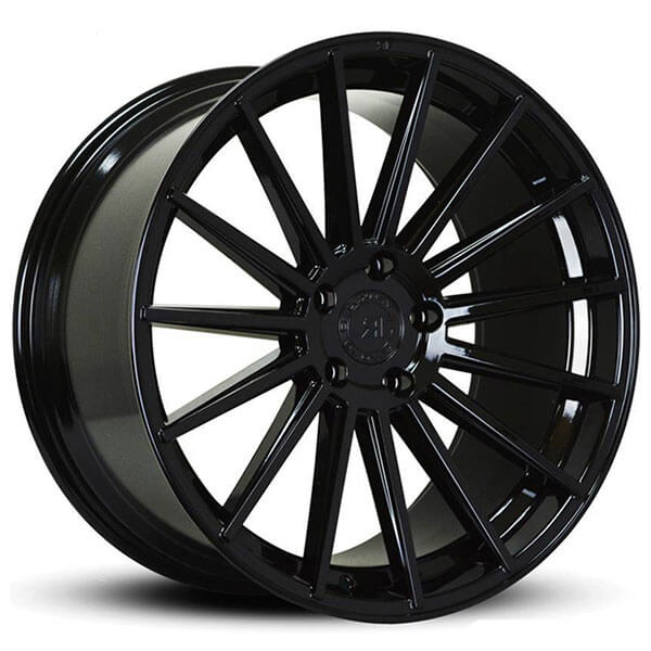 "20"" Road Force Wheels RF15 Gloss Black Rims"