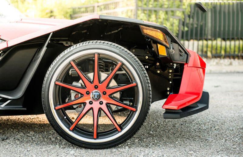 "20/22"" Staggered Rohana Wheels RC10 Custom Finish Polaris Slingshot Rims"
