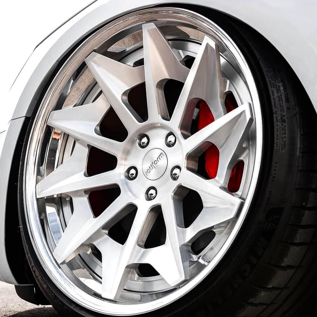 "Jeep Lift Kits >> 20"" Rotiform Wheels R124 CVT Gloss Silver Rims #RTF052-1"