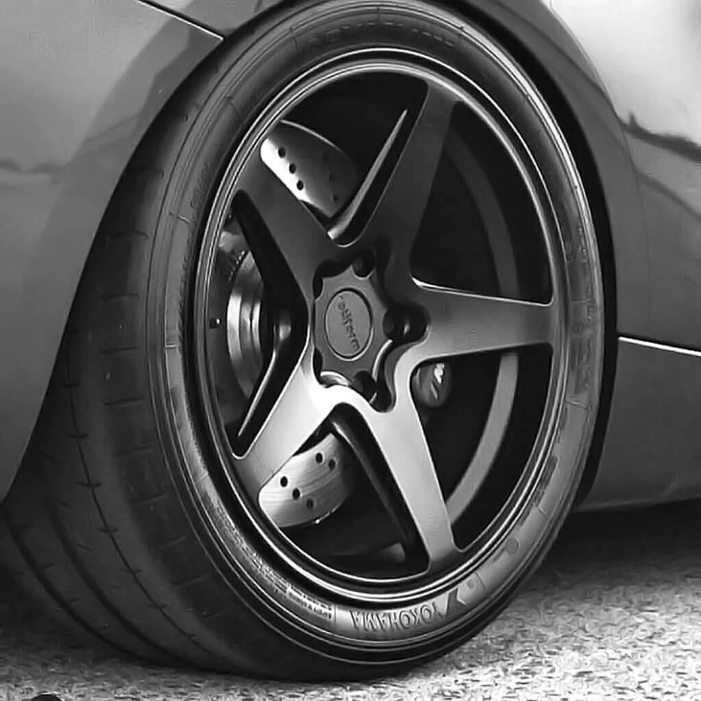 "18"" Staggered Rotiform Wheels R148 WGR Matte Black Rims # ..."