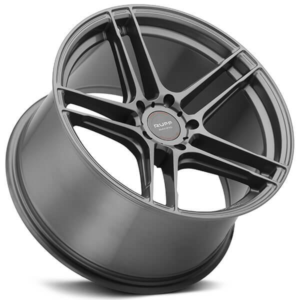 "18"" Staggered Ruff Wheels RS1 Gloss Gunmetal Rims #RUF009-2"