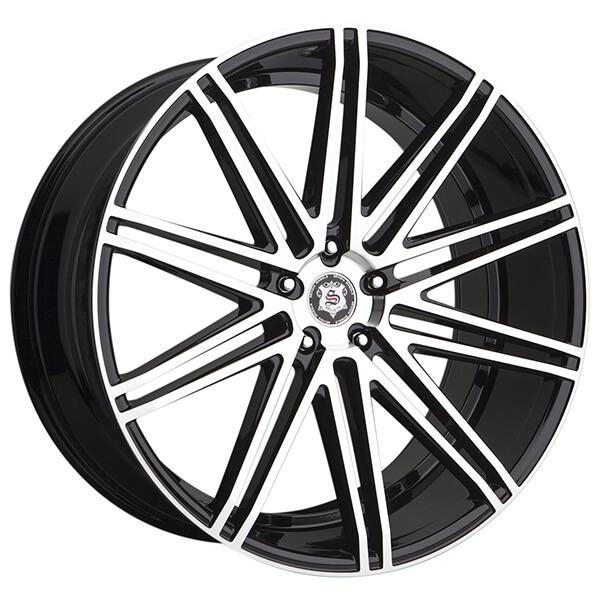24 Sevizia Wheels Se429 Black Machined Rims Svz016 3