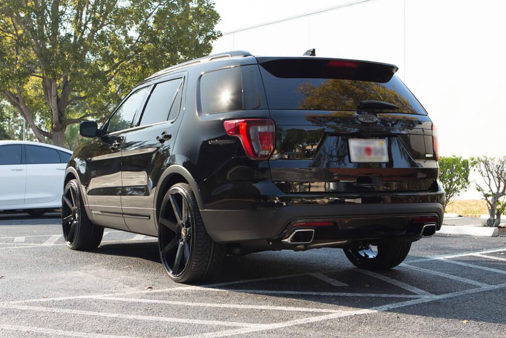 "2016 Dodge Journey >> 24"" Status Wheels Journey Gloss Black Rims #STS008-2"
