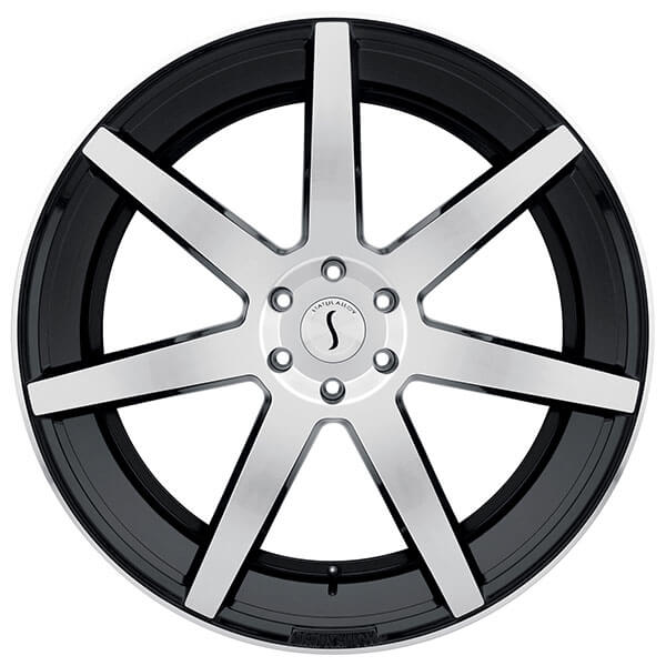 """22"""" Status Wheels Journey Gloss Black with Machined Face Rims"""