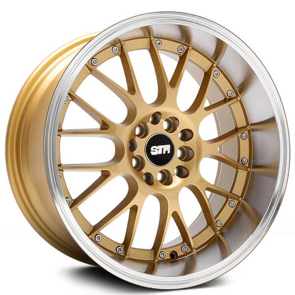 "20"" Staggered STR Wheels 514 Gold JDM Style Rims"