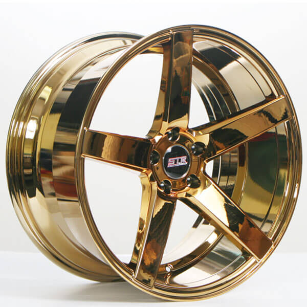 20 Quot Staggered Str Wheels 607 Gold Rims Str025 4