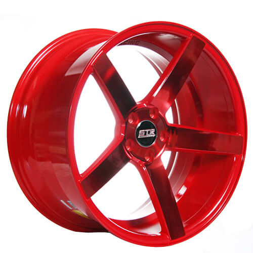 22 Quot Str Wheels 607 Neon Red Rims Str023 5