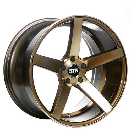 "20"" Staggered STR Wheels 607 Titanium Rims"