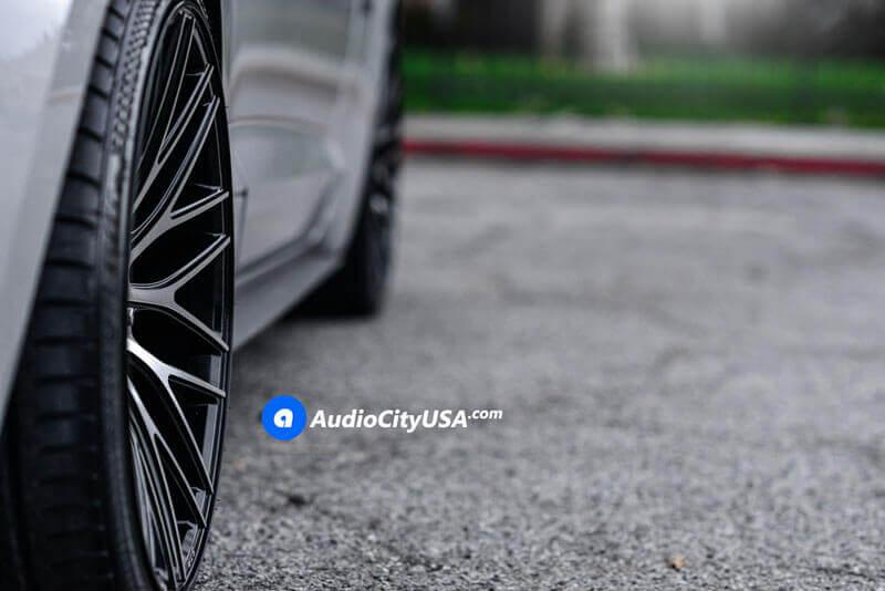 "20"" STR Wheels 615 Black Machined Rims"