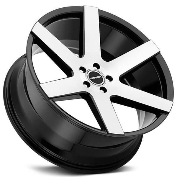 "26"" Strada Wheels Coda Gloss Black Machined Rims #STD018-3"